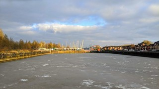 Totally frozen Preston Docks | by Tony Worrall