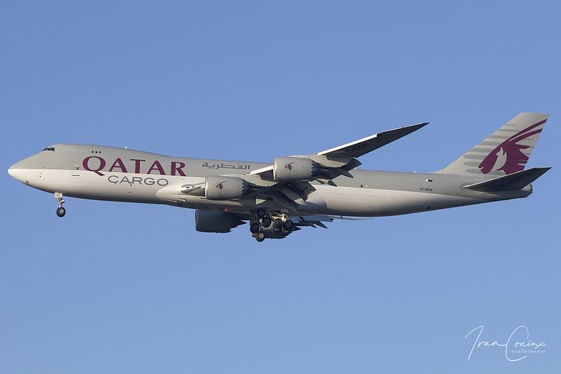 Boeing 747-83Q(F) – Qatar Airways Cargo – A7-BGB – Brussels Airport (BRU EBBR) – 2021 01 09 – Landing RWY 25R – 03 – Copyright © 2021 Ivan Coninx