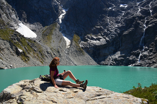 Glacial lake at the Enchanted Forest, Chile