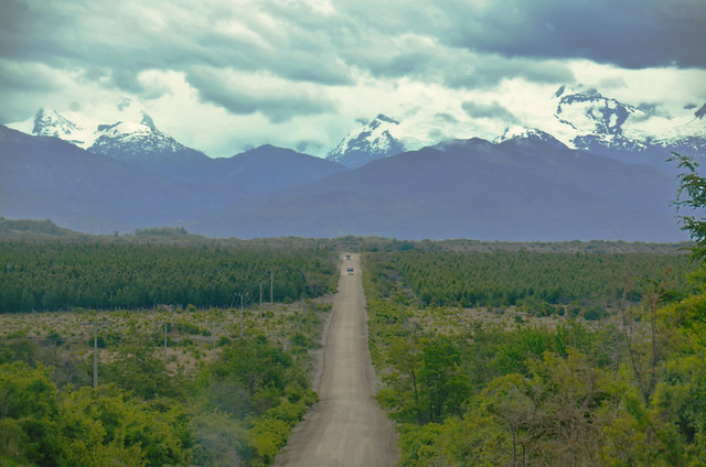 Carretera Austral, road and mountains, Chile