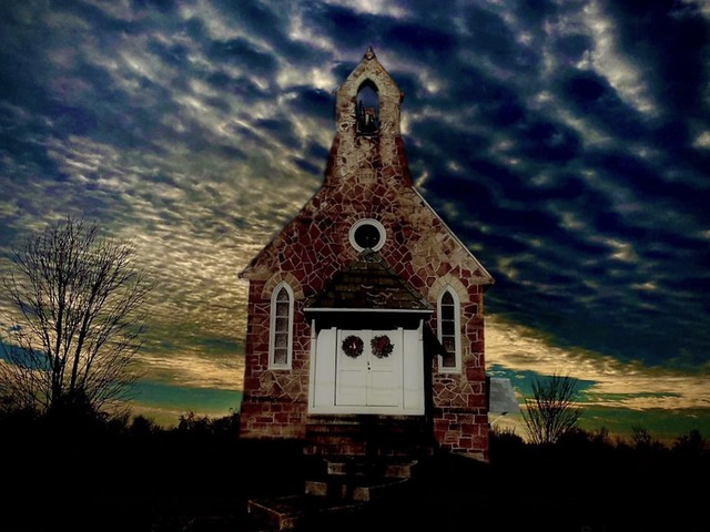 Lonely Chapel on the Hill