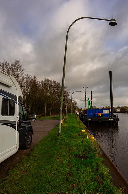 200110_Niedersachsen-Nord(76) - Wohnmobilstellplatz am Küstenkanal / Motorhome parking space on the coastal canal