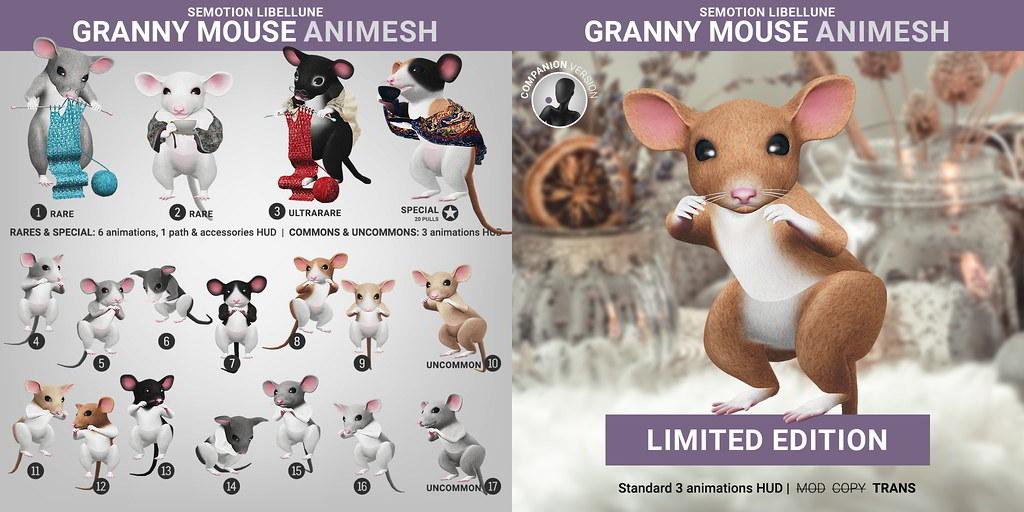 SEmotion Libellune Granny Mouse Animesh