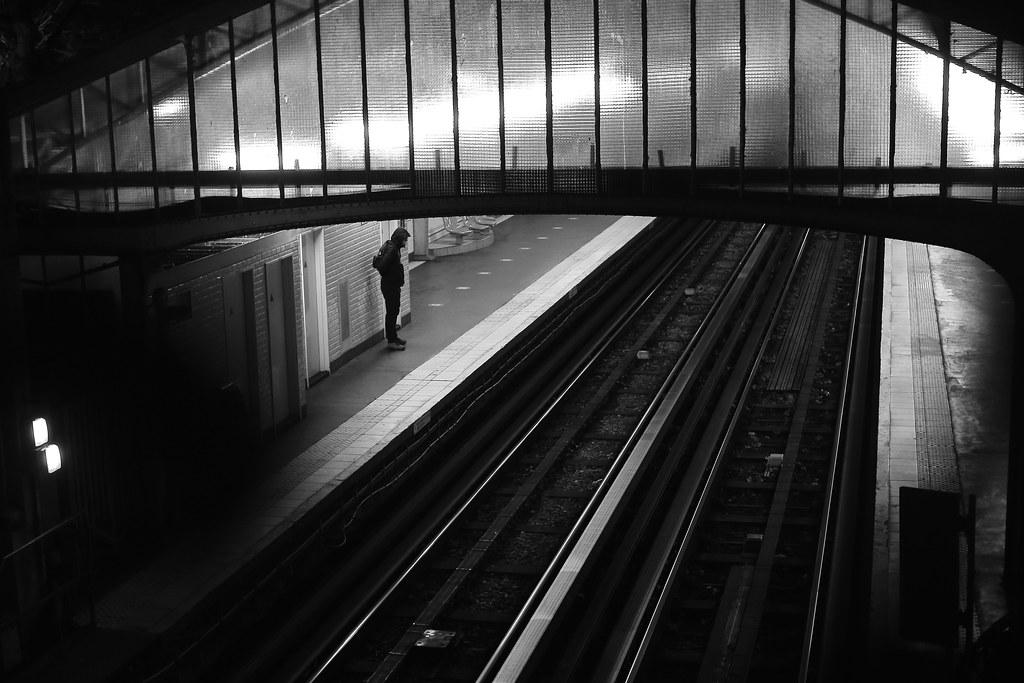 On the deserted platform