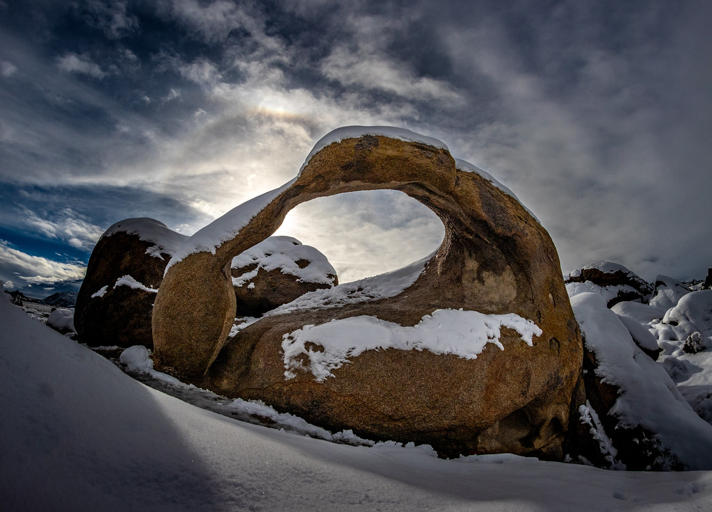 Snowy Mobius Arch. Happy New Year!