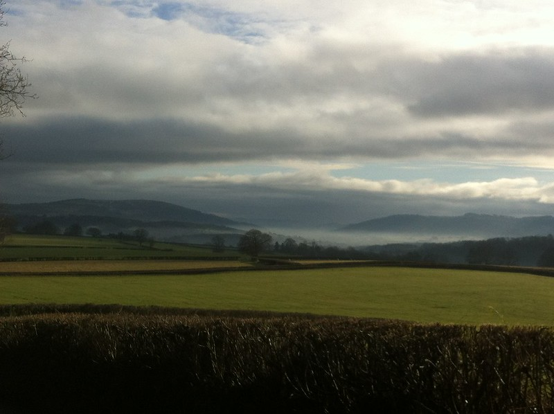 Mist in the valleys south from Tremorithic Road