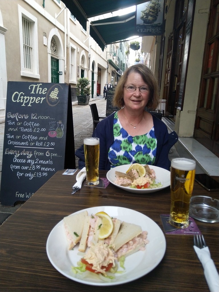 Lunch at The Clipper, Gibraltar