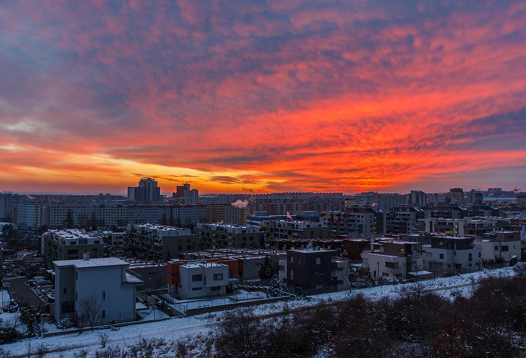 Zimní výhled z Vidoule