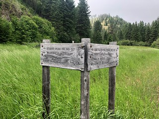 Trail signs in the Rattlesnake - Lolo NF 2020 Annual Report