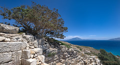 Ikaria/Ικαρία  -  View from Drakano across the aegean sea towards Samos & Fourni