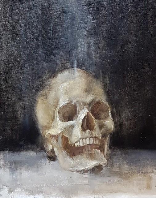 Human, oil on linen 30 x 40 cm.