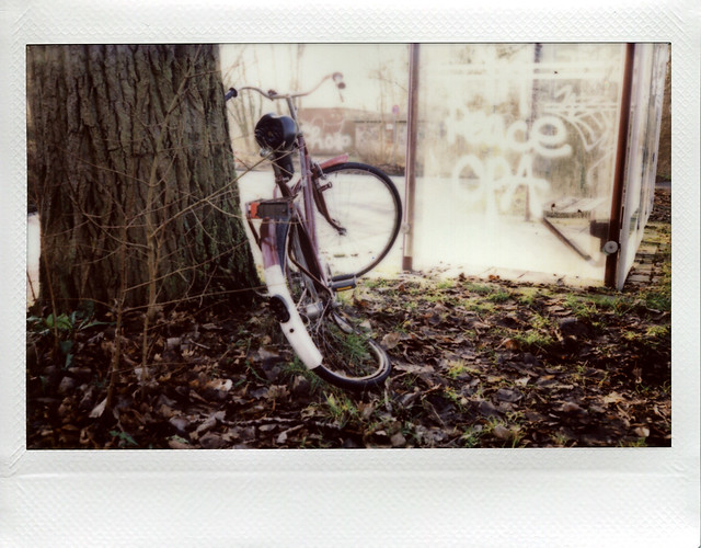 Bike standing around - I shot film