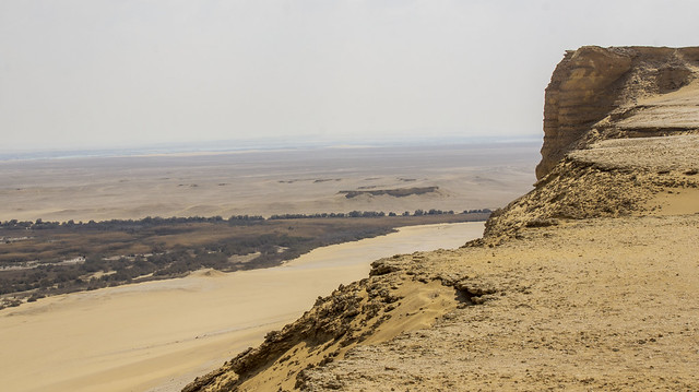 The desert of Egypt's Wadi El-Rayan Protectorate in Fayoum
