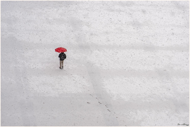 Snow over Madrid