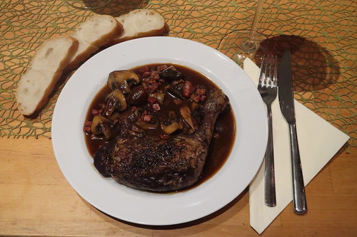 Coq au vin (meine Portion)