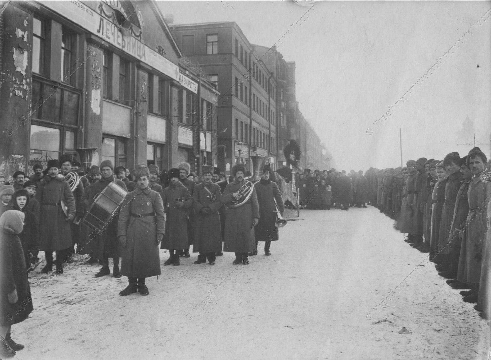 1919. Похороны тов.Белякова,убитого в дни наступления Юденича на Петроград