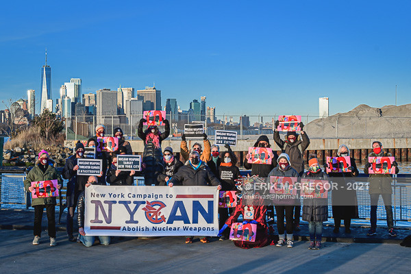 NEW YORKERS ANNOUNCE THE ENTRY INTO FORCE OF THE TREATY ON THE PROHIBITION OF NUCLEAR WEAPONS