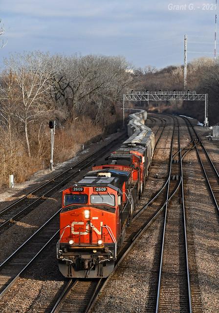 Westbound Grain Train in Kansas City, KS