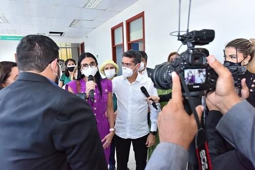 11-01-2021 Prefeito e Ministro da Saúde visitam UBS Nilton Lins que vai atuar diretamente no enfrentamento da Covid-19.