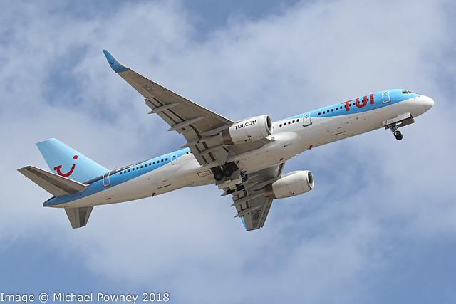 G-OOBN - 2000 build Boeing B737-2G5, departing from Runway 21 at Arrecife