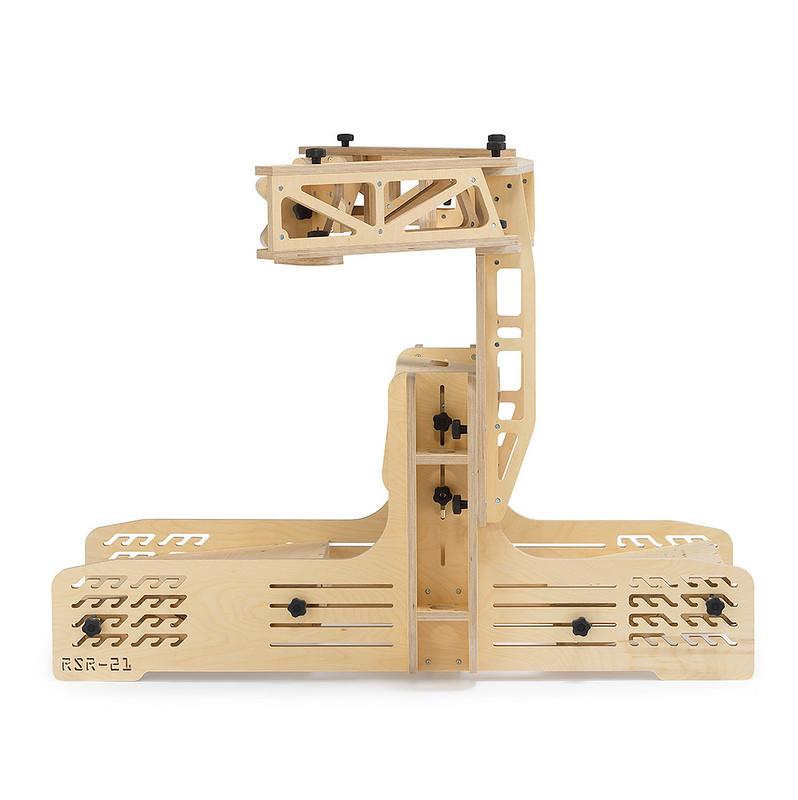 RSR-21 Wooden Sim Racing Rig Side