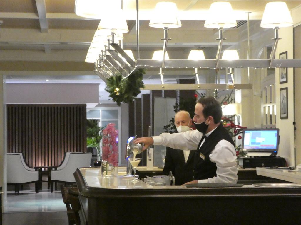 Cocktail bar, The Rock Hotel, Gibraltar