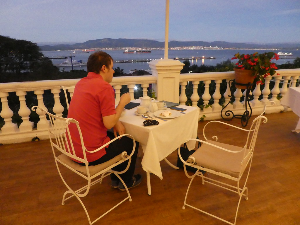 Breakfast on the Wisteria Terrace, Rock Hotel, Gibraltar