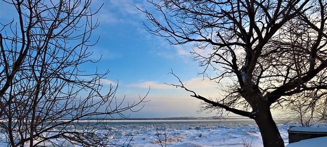 Notre hiver québécois à l'Ile-d'Orléans en janvier 2020.