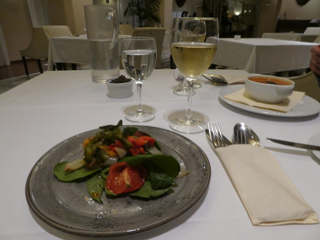 Dining in the Terrace Restaurant, Rock Hotel, Gibraltar