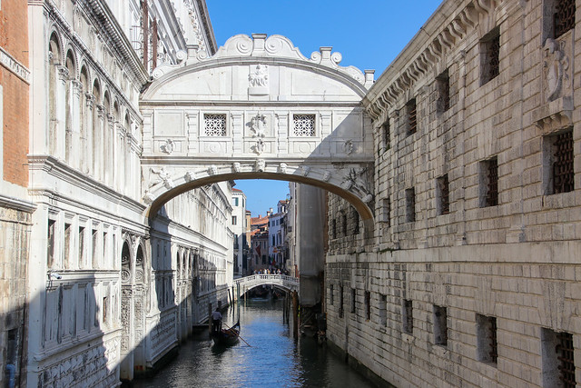 The Bridge of Sighs, on the Rio del Palazzo, Venice, Italy