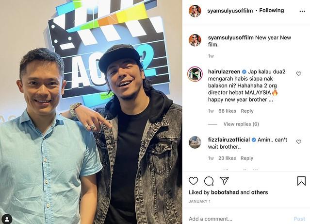 Adrian Teh & Syamsul Yusof Bakal Bekerjasama Hasilkan Filem Aksi