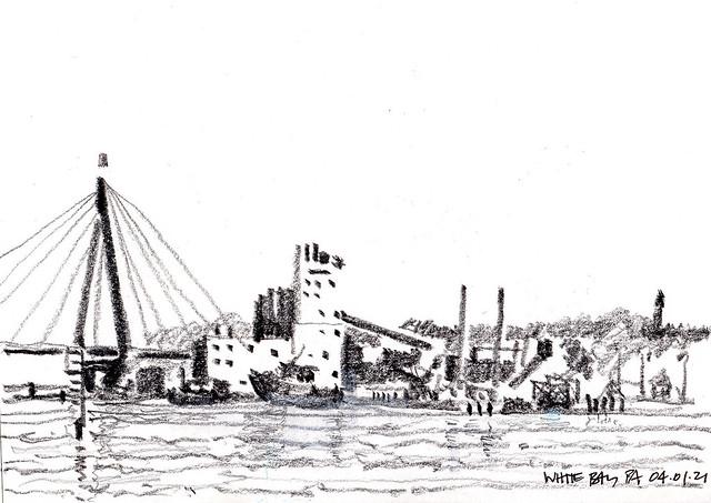 Sydney Harbour White Bay pencil