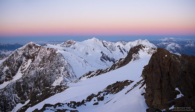 Dawn at Monte Vioz
