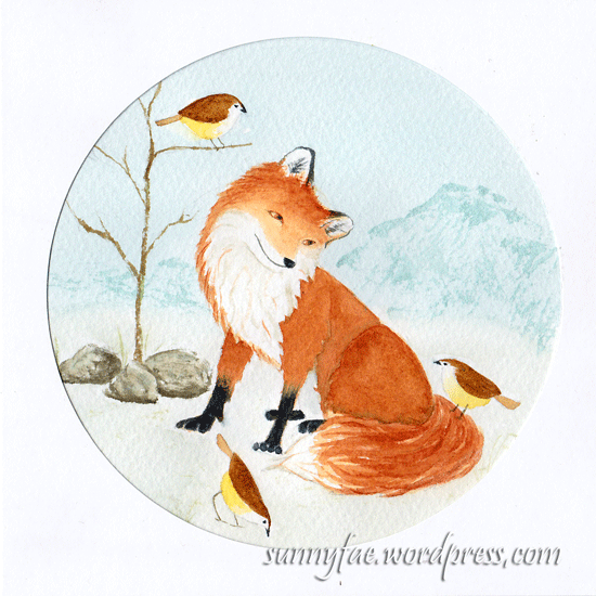 finished fox card