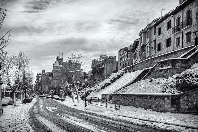 Palacio Real de Olite desde el Paseo de Doña Leonor - Enero 2021
