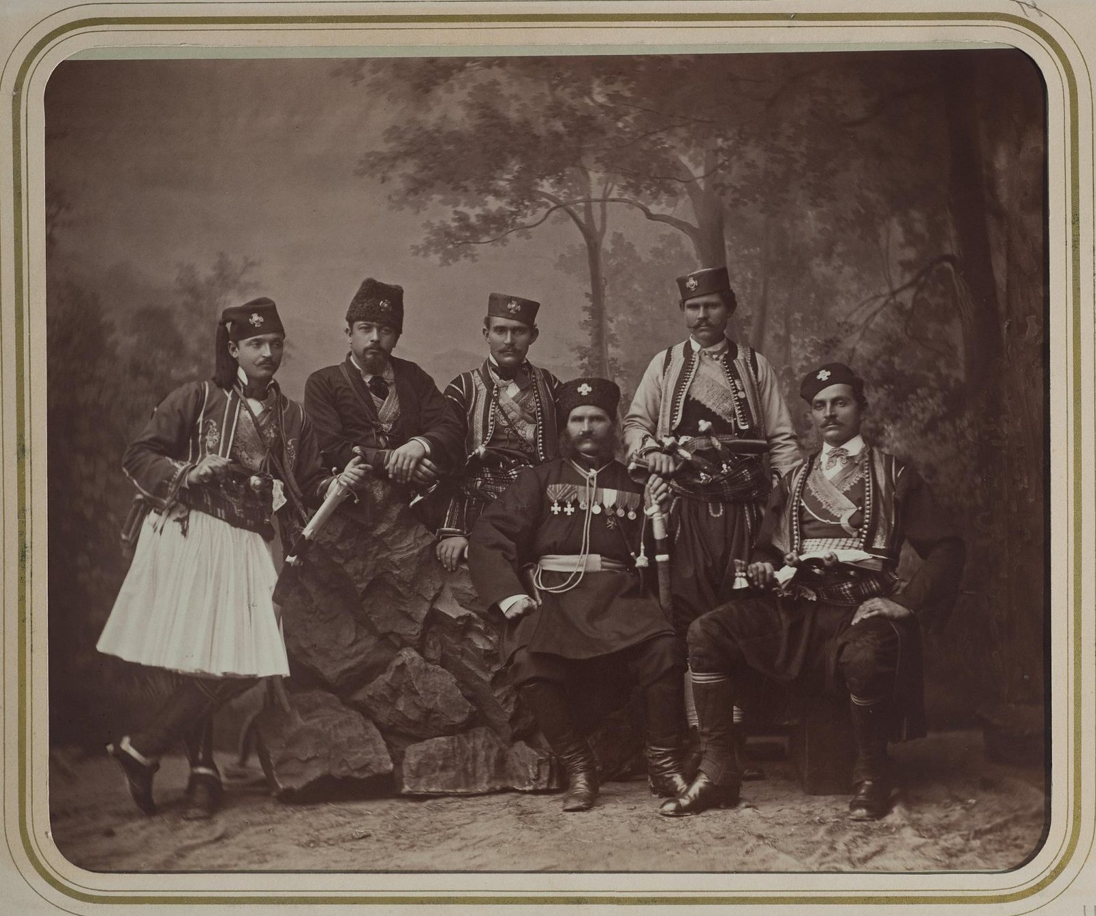 1876. Группа сербских военных
