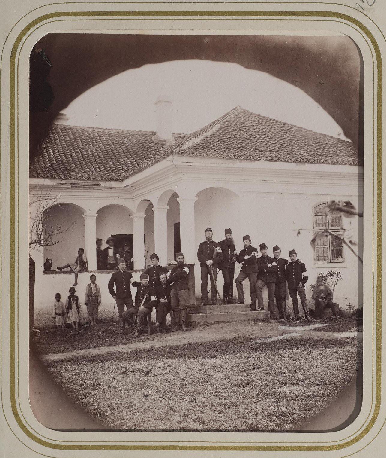 1876. Группа сербов из санитарного отряда