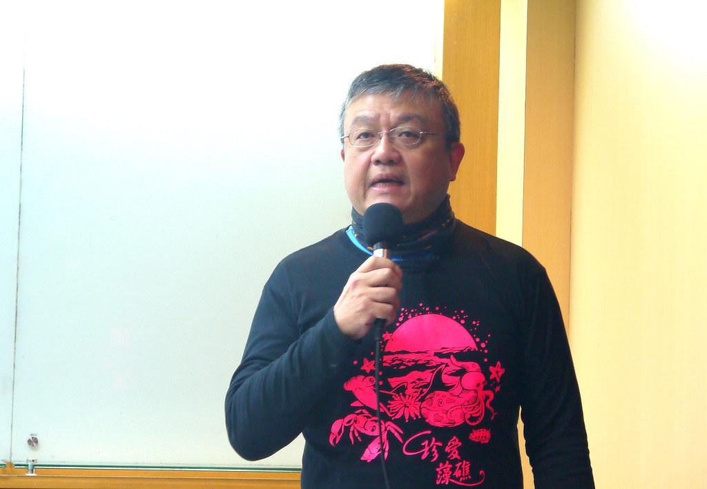 台灣珊瑚白化觀測平台召集人陳昭倫。黃思敏攝