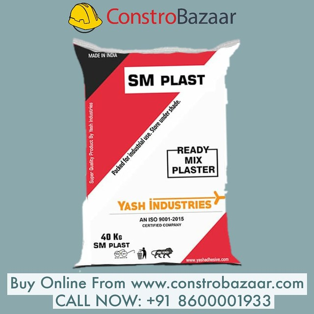 Get SM Plast Ready Mix Plaster At Constrobazaar