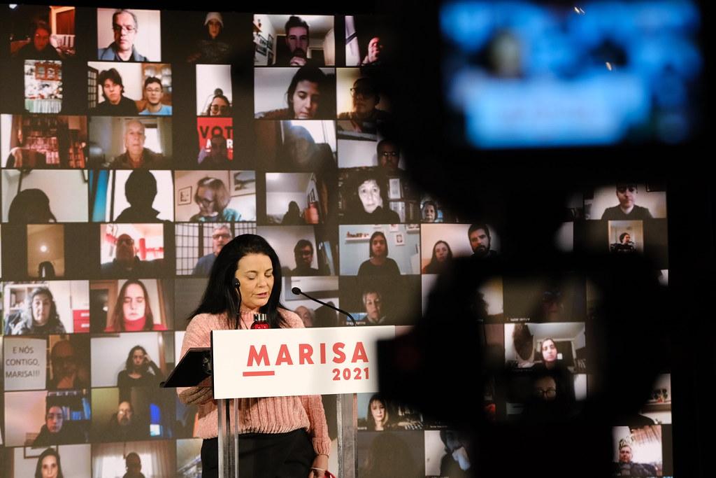 Comício virtual no Cinema de São Jorge, Lisboa, Jan 2021