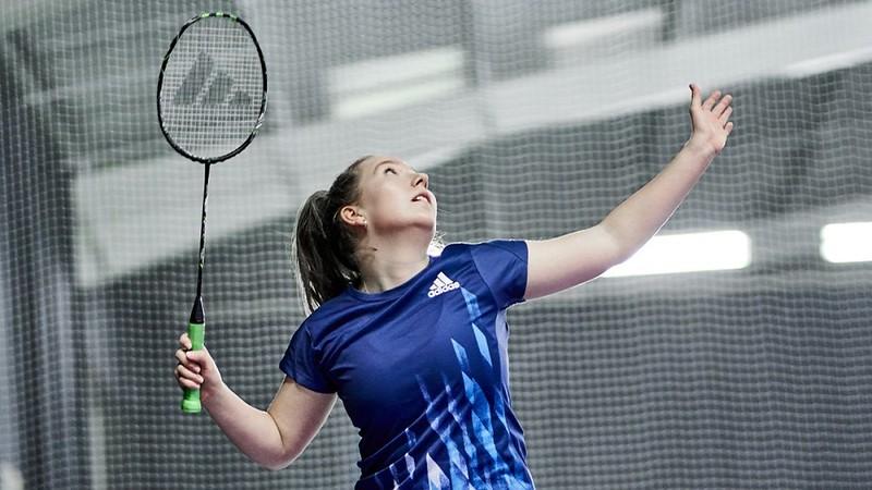 Photo of Molly Chapman playing badminton