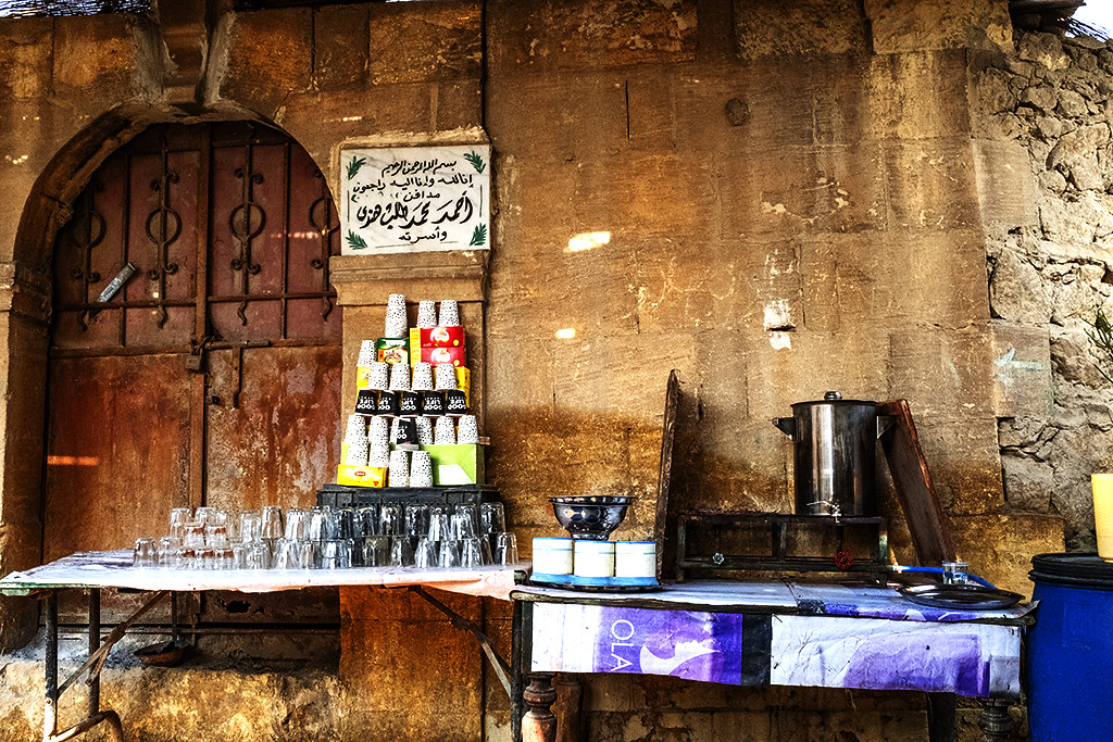 Cafe inside City of the Dead on 1-12-21--Cairo