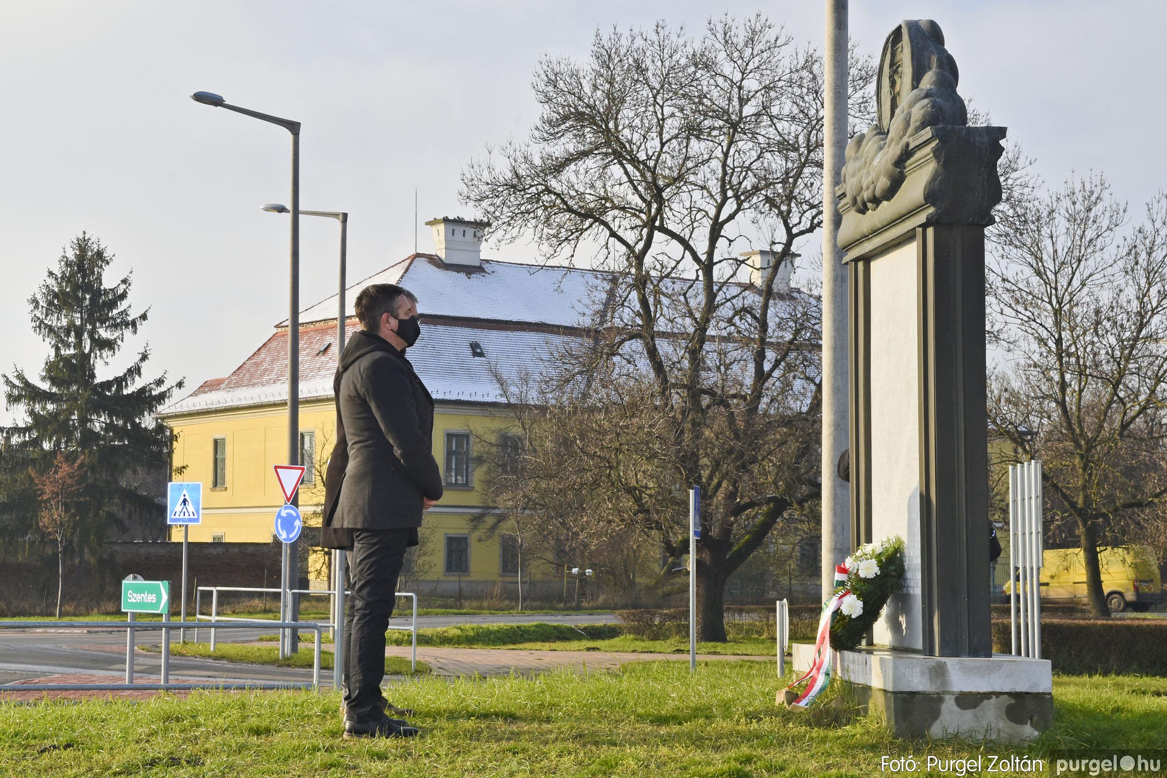 2021.01.12. 010 Megemlékezés a Doni katasztrófa hőseiről - Fotó: Purgel Zoltán© _DSC3650q
