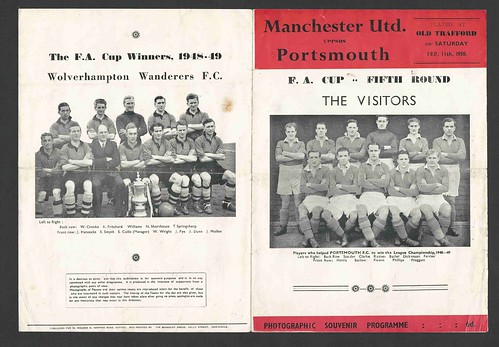 Manchester United v Portsmouth F.A.Cup 5th Round Season 1949-50
