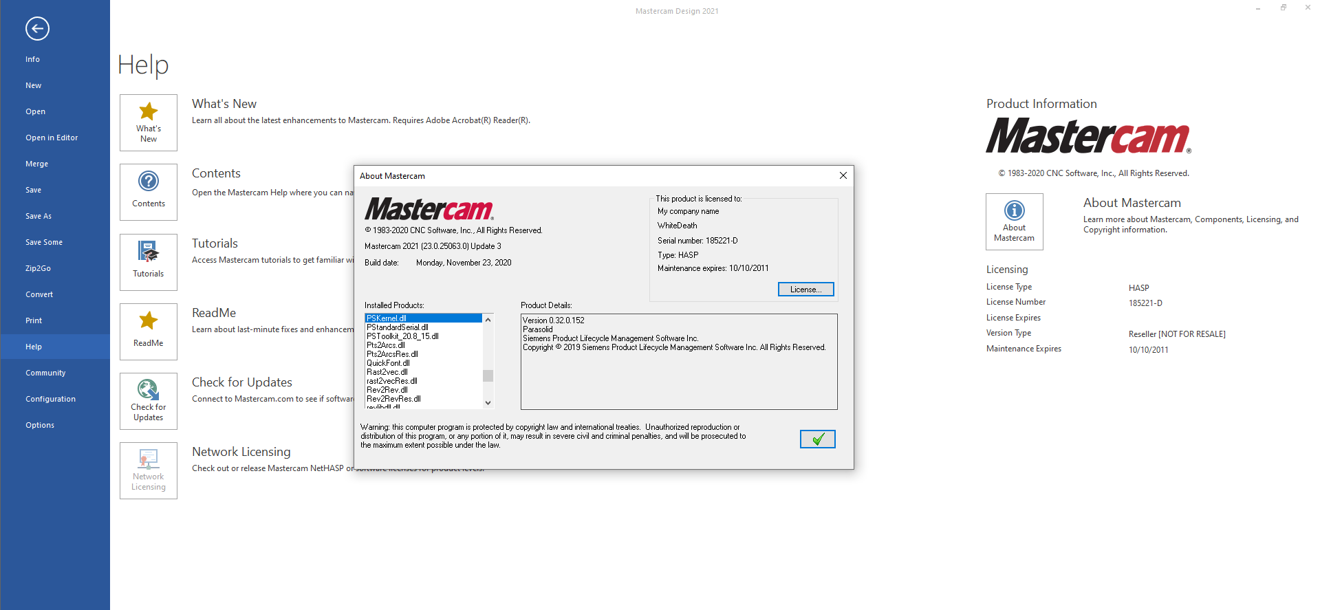 Working with Mastercam 2021 v23.0.25036.0 Update 3 full license