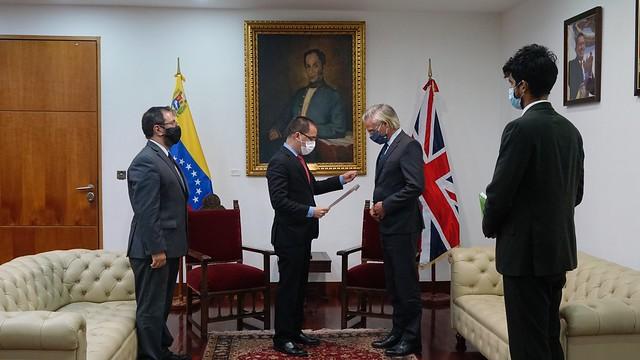 Gobierno nacional protesta financiamiento de Reino Unido a planes para perturbar la paz en Venezuela