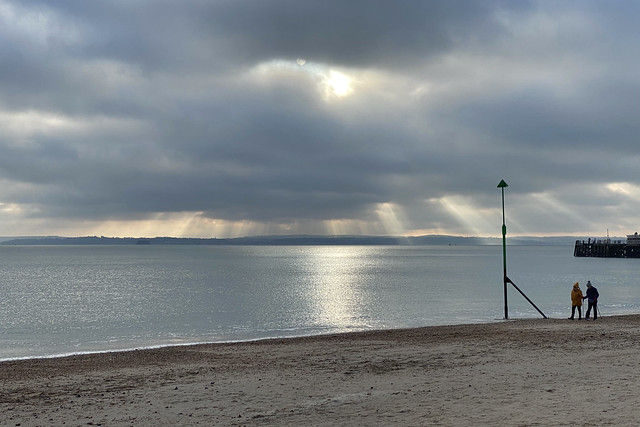 The Sun over the Solent