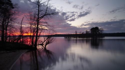 sunset centralnorthcarolina reflections pentax k1 lensbaby velvet iridientdeveloper affinityphoto