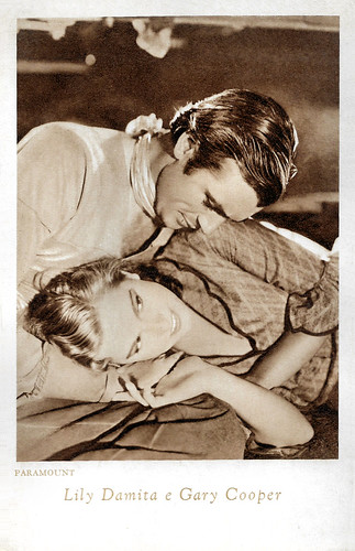 Lily Damita and Gary Cooper in Fighting Caravans (1931)