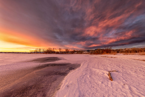 sunrise snow ice beach clouds landscape dawn landscapes colorado daybreak chatfieldstatepark chatfieldlake lakechatfield
